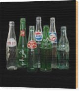 Foreign Cola Bottles Wood Print