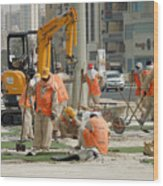 Foreign Workers - Manama Bahrain Wood Print