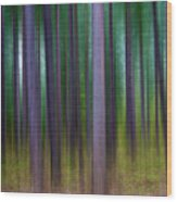 Forest Abstract02 Wood Print