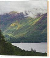 Forest And Lake Derwent Water Drama Wood Print