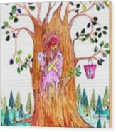 Forest Angel Wood Print