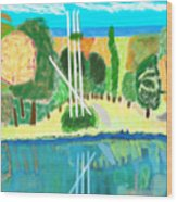 Forest At The Shore Wood Print