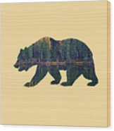 Forest Bear Wood Print