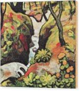 Forest Brook By August Macke Wood Print