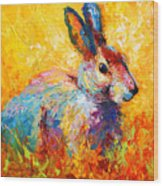 Forest Bunny Wood Print