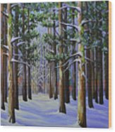 Forest Cathedral Wood Print
