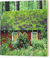 Forest Chapel Wood Print