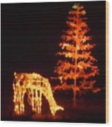 Forest Christmas Wood Print