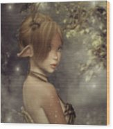Forest Faun Wood Print
