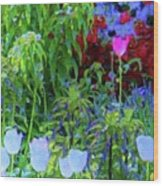 Forest Flowers Different One Wood Print