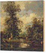 Forest Landscape 1840 Wood Print