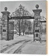 Forest Lawn Gate 4391 Wood Print