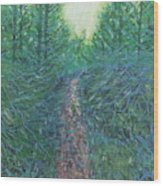 Forest Of Green And Blue Wood Print