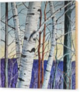 Forest Of Trees Wood Print