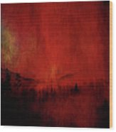 Forest Red Wood Print
