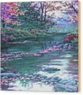 Forest River Scene. L A Wood Print