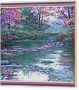 Forest River Scene. L B With Alt. Decorative Ornate Printed Frame. No. 1 Wood Print