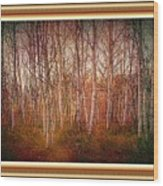 Forest Scene. L A With Decorative Ornate Printed Frame. Wood Print