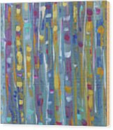 Forest Through The Trees, Abstract Art Wood Print