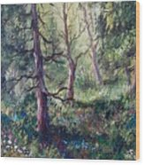 Forest Wildflowers Wood Print