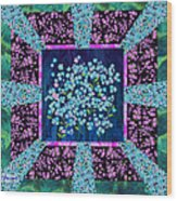 Forget Me Nots Fabric By Clothworks Wood Print