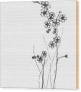 Forget-me-nots Wood Print