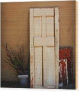 Forgotten Door Wood Print
