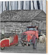 Forgotten Old Timers Wood Print