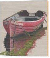 Forgotten Red Boat II Wood Print
