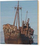 Forgotten Ship Wreck Wood Print