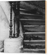 Forgotten Stairs Wood Print by Georgia Fowler