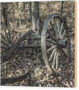 Forgotten Wagon Wood Print