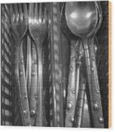 Forks...n...spoons Wood Print
