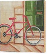 Forlorn Bike Wood Print
