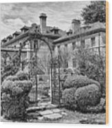 Formal Gardens Wood Print