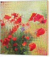 Formas Y Flores Wood Print