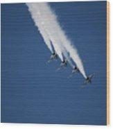 Formation Aerobatics Wood Print