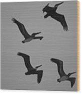 Formation Drills Wood Print