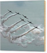 Formation Fly By Wood Print