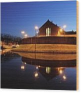 Former Prison Wolvenplein In Utrecht In The Evening 20 Wood Print