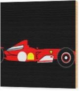 Formula One Ferrari Wood Print