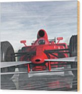 Formula One Racer Wood Print