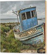 Forsaken Fishing Boat Wood Print