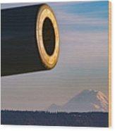 Fort Casey- Mount Rainer Wood Print
