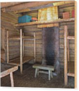 Fort Clatsop Living Quarters Wood Print