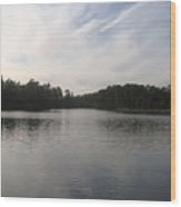 Fort Dix Lake In The Woods Wood Print