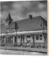 Fort Edward Train Station Wood Print