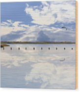 Fort Fisher Reflection Wood Print