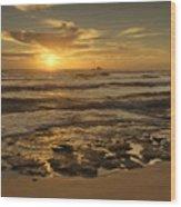 Fort Haze Beach Wood Print