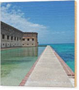 Fort Jefferson Dry Tortugas Wood Print